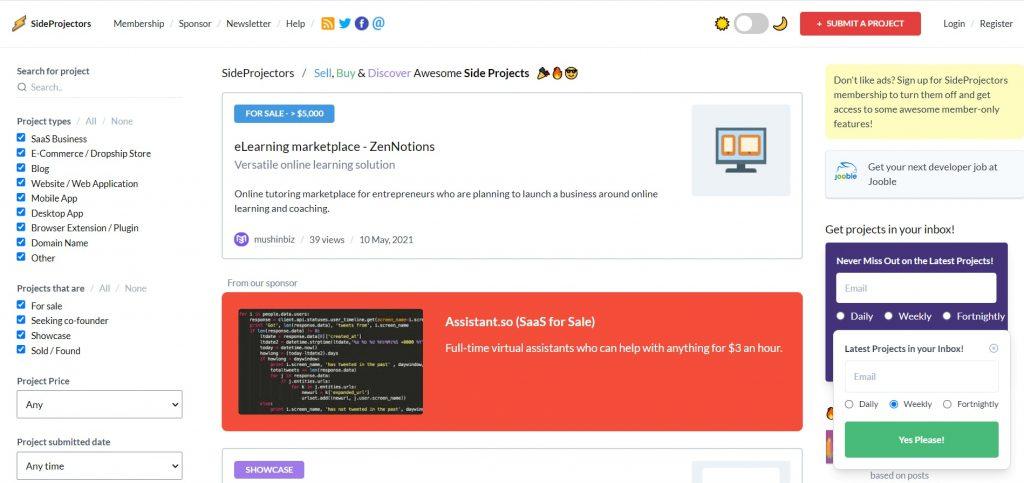 sideprojectors_homepage